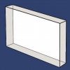 Sodium Chloride - Rectangular Windows